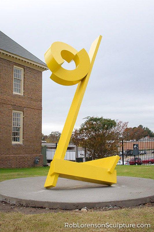 yellow large-scale public landscape sculpture