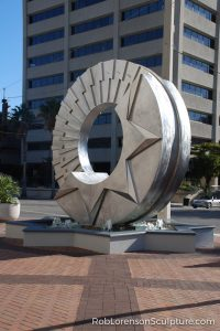 sarasota deco stainless steel landscape sculpture