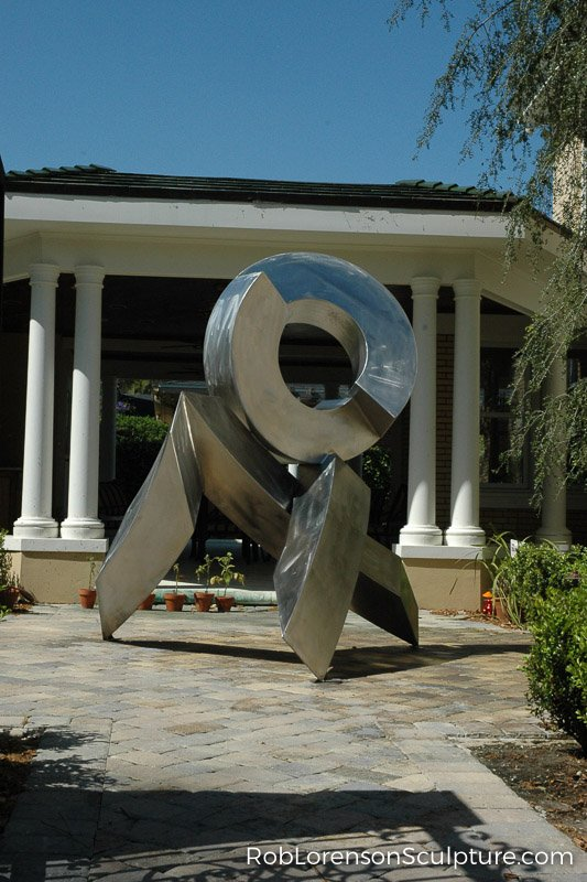 metal outdoor landscape sculpture