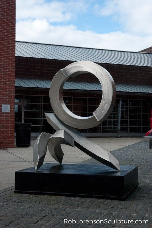 outdoor steel abstract metal sculpture