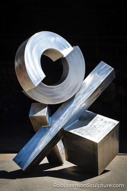 stainless steel metal abstract sculpture