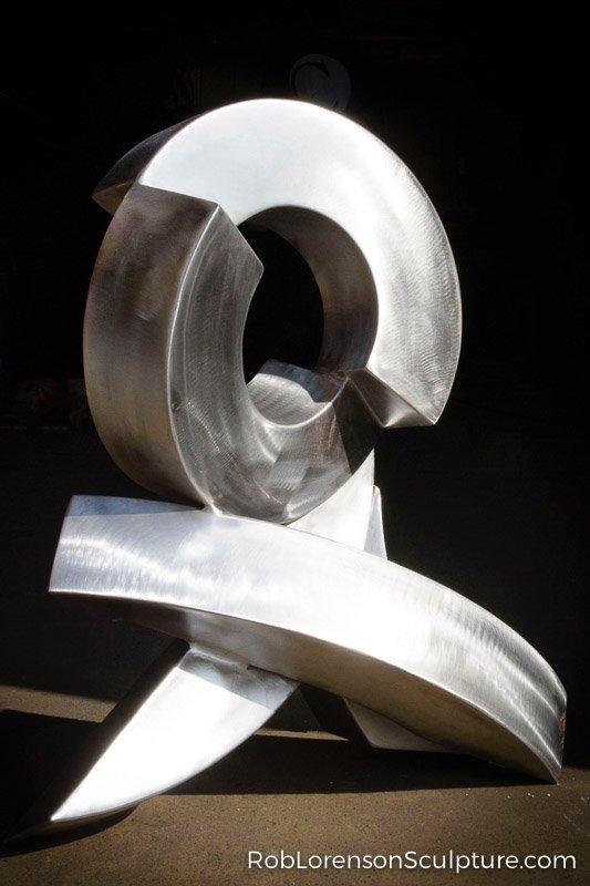 small metal indoor sculpture