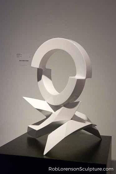 small indoor white metal sculpture